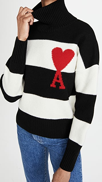 AMI Ami Striped Pullover