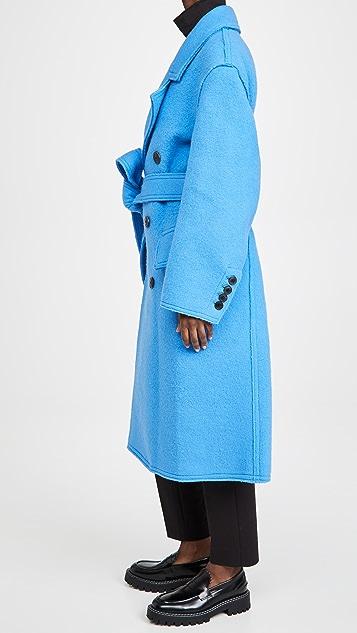 AMI Long Trench Coat