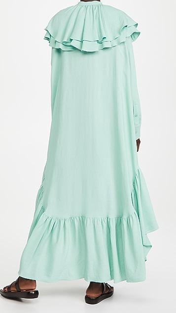 AMI Dress with Ruffles