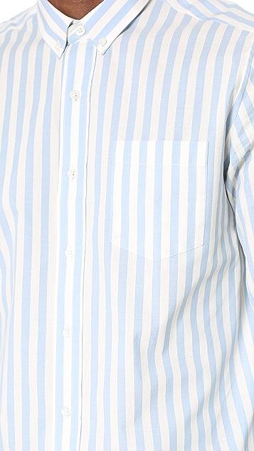 AMI Button Down Candy Stripe Shirt
