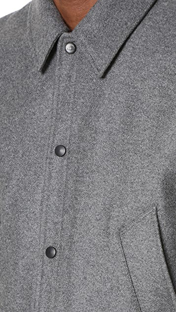 AMI Unlined Snap Closer Jacket