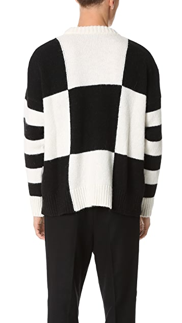 AMI Oversized Crew Neck Sweater
