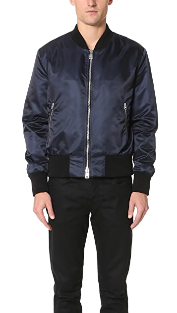 AMI Zipped Teddy Bomber Jacket
