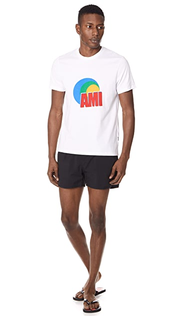 AMI Solid Swim Trunks