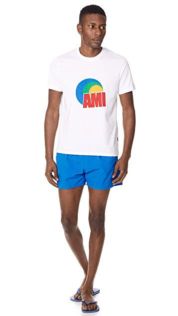 AMI Solid Swim Trunks