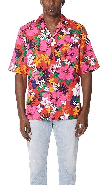 AMI Floral Short Sleeve Shirt