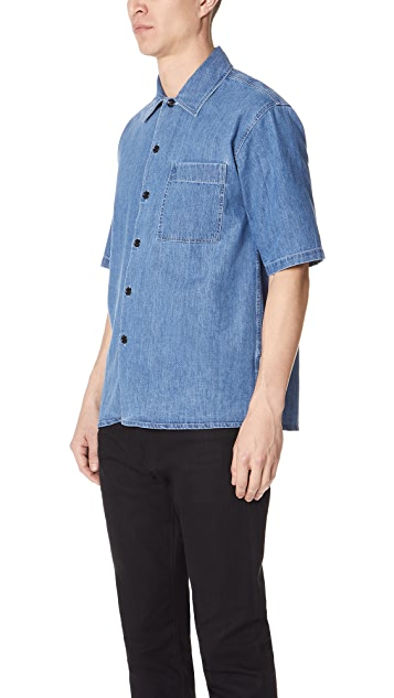 AMI Short Sleeve Denim Shirt