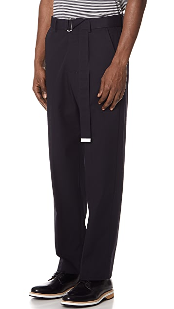 AMI Large Belted Pants