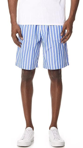AMI Striped Bermuda Shorts
