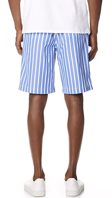 AMI Striped Bermuda Shorts