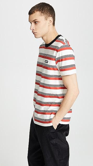AMI Striped Crew Tee Shirt