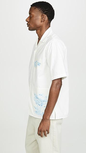 AMI Shark Collar Shirt
