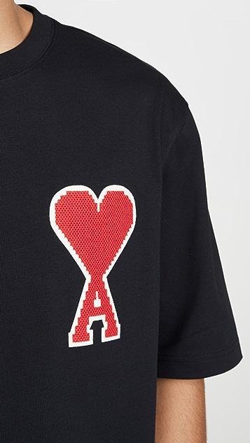 AMI Big Patch Short Sleeve T-Shirt