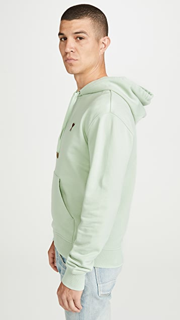 AMI Small Heart Embroidered Hoodie