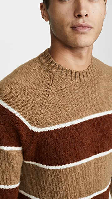 AMI Striped Crew Neck Sweater