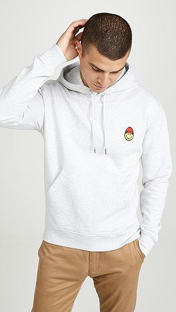 AMI Smiley Patch Pullover Sweatshirt