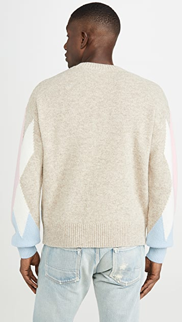AMI Argyle Crew Neck Sweater