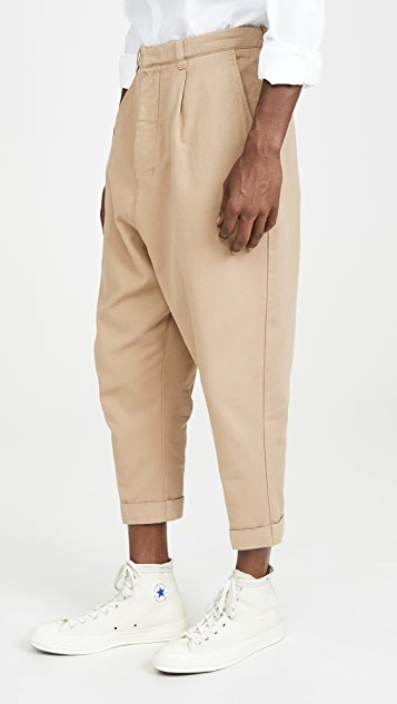 AMI Oversized Carrot Fit Trousers