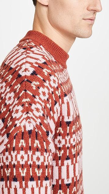AMI Jacquard Crew Neck Sweater