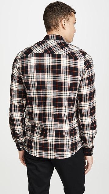 AMI Plaid Button Down Shirt