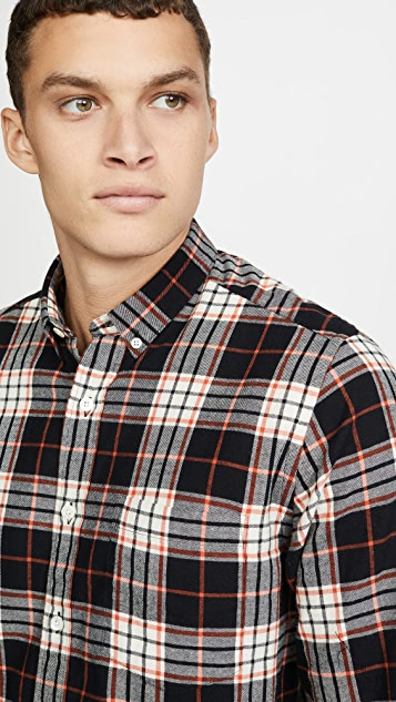 AMI Plaid Button Down Shirt