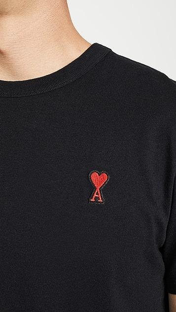 AMI AMI Heart Logo Tee