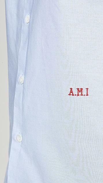 AMI AMI Monogram Button Down Shirt