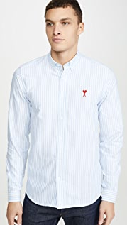 AMI AMI Small Logo Button Down Shirt