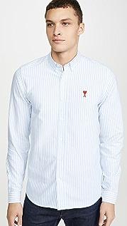 AMI AMI Small Logo Button Down Shirt