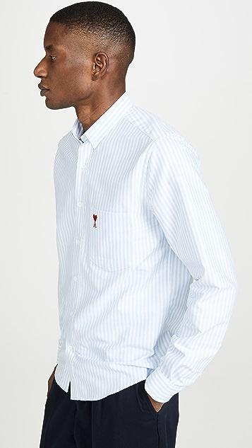 AMI Logo Button Down Shirt