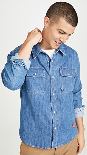 AMI Denim Button Down Shirt