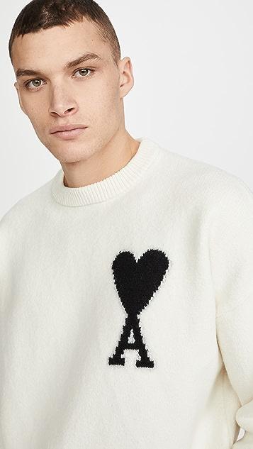 AMI AMI Heart Oversized Sweater