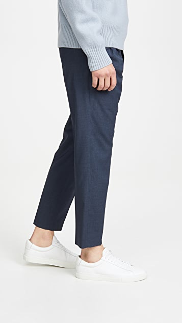 AMI Pleated Carrot Fit Virgin Wool Trousers