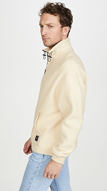 AMI Fleece Quarter Zip Pullover