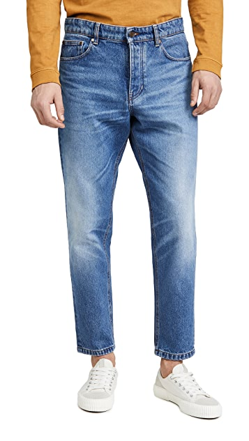 AMI Carrot Fit Washed Out Denim