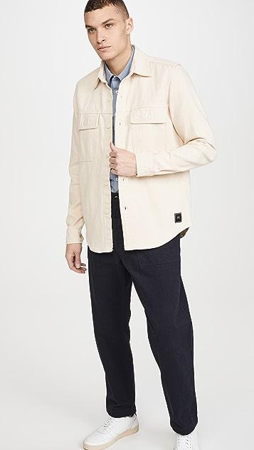 AMI Twill Double Pocket Shirt Jacket