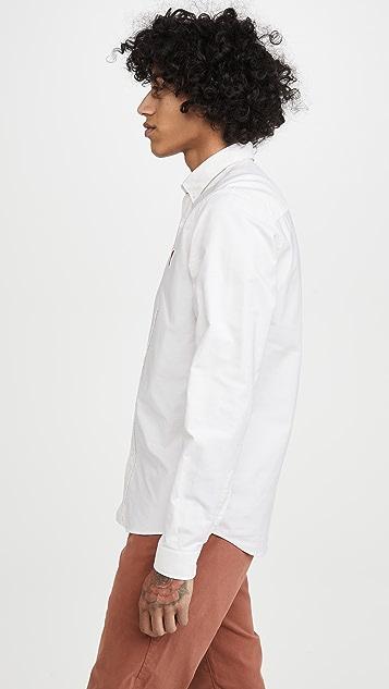 AMI Long Sleeve Ami Heart Oxford Shirt
