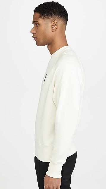 AMI Embroidered Ami Heart Crew Neck Sweatshirt