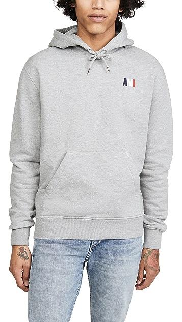 AMI Small Ami Logo Pullover Hoodie