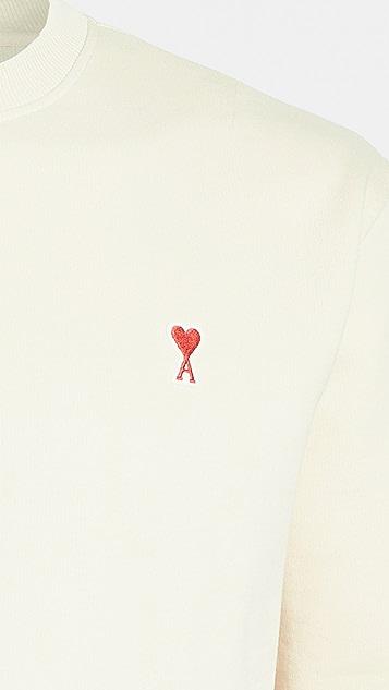 AMI Small Ami Heart Logo Crew Neck Sweatshirt