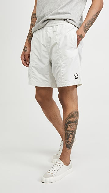 AMI Ami Heart Logo Shorts