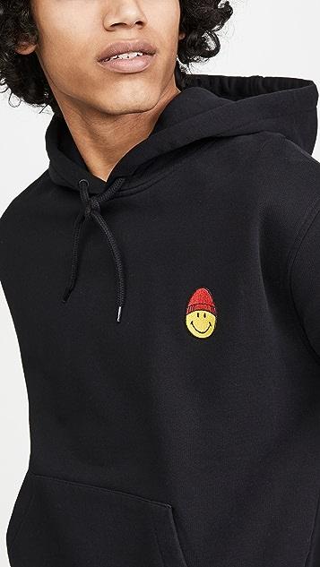 AMI Ami Smiley Logo Pullover Hoodie
