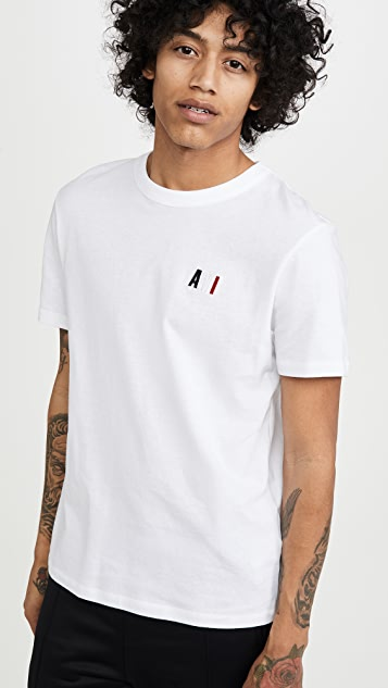 AMI Small Embroidered Logo T-Shirt