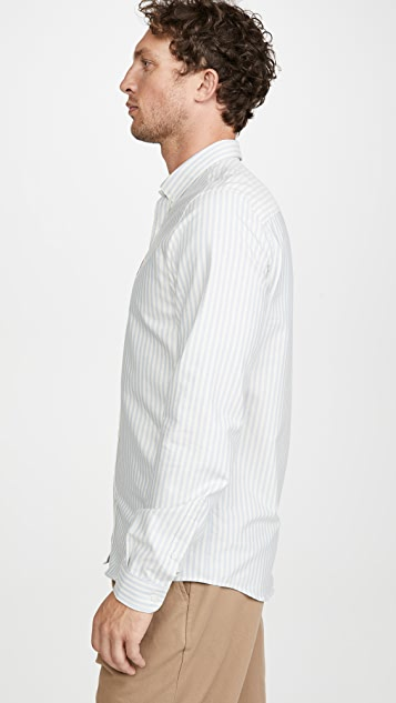AMI Small Heart Logo Oxford Shirt
