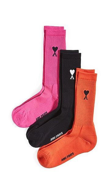 AMI AMI 3 Pack Socks