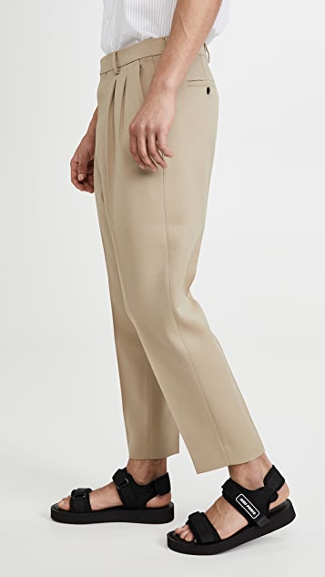 AMI Carrot Leg Trousers