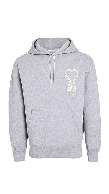 AMI Big AMI Heart Logo Pullover Hoodie