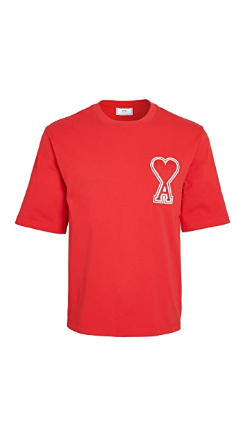 AMI Big AMI Heart Logo T-Shirt