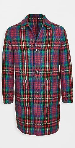 AMI - Multi Color Plaid Wool Topcoat