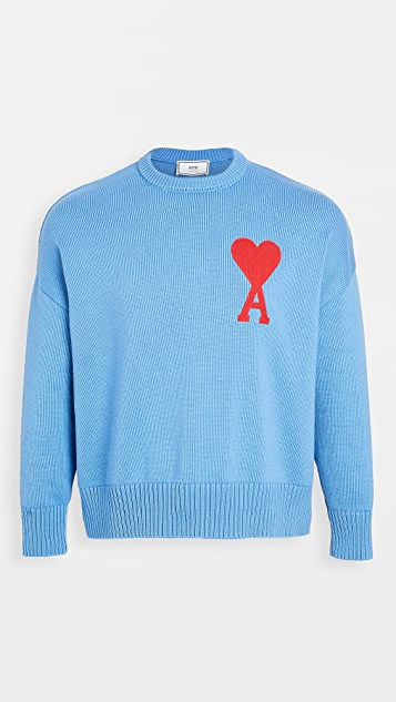 AMI Big AMI Heart Logo Sweater